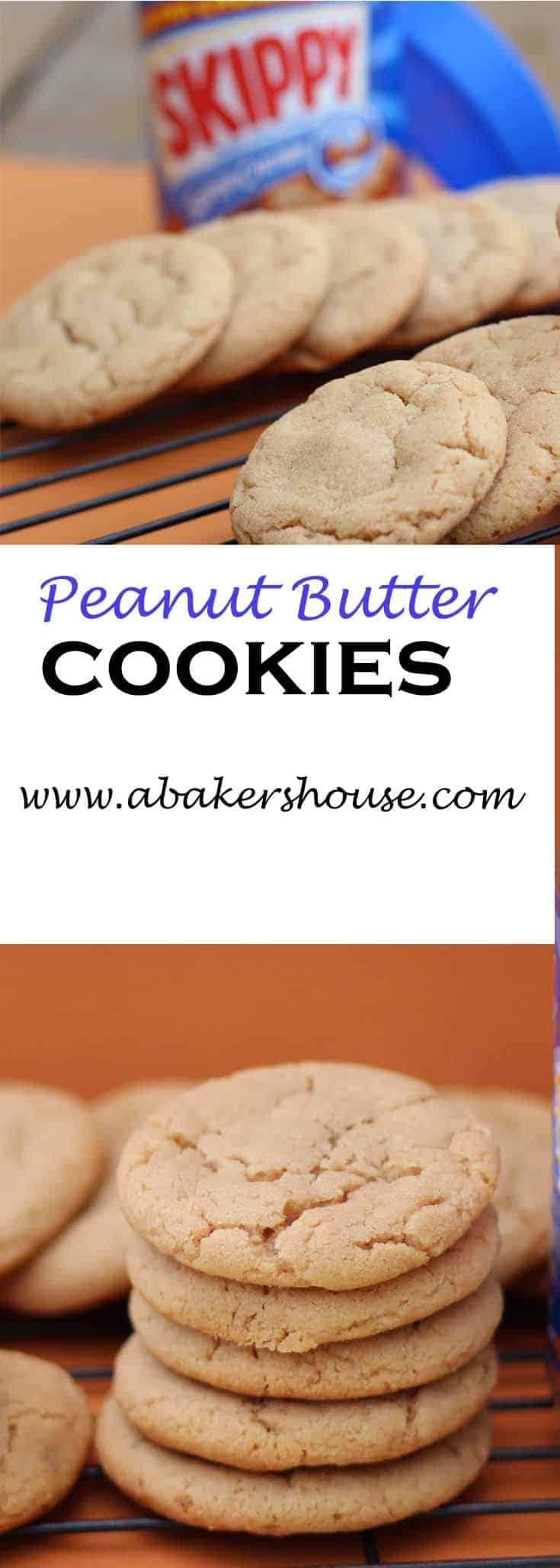 Classic Peanut Butter Cookies are easy to make and will delight those peanut butter lovers in your house! #peanutbutter #cookies #abakershouse #easycookierecipe