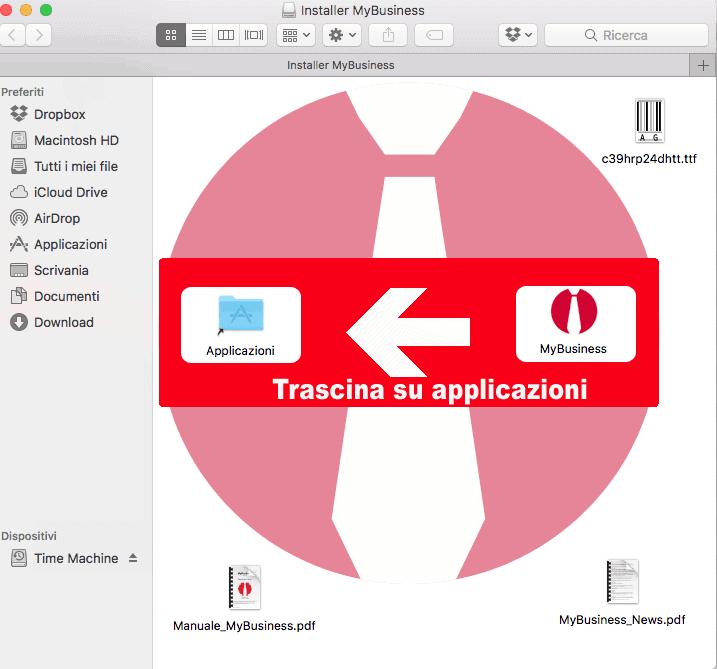 Installazione dell'applicativo in ambiente MacOS