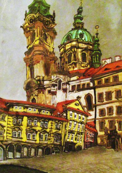 Praga. Malá Strana. Iglesia de San Nicolás.