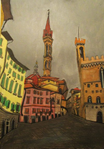 Florencia I. Duomo. Piazza San Firenze. 1966.