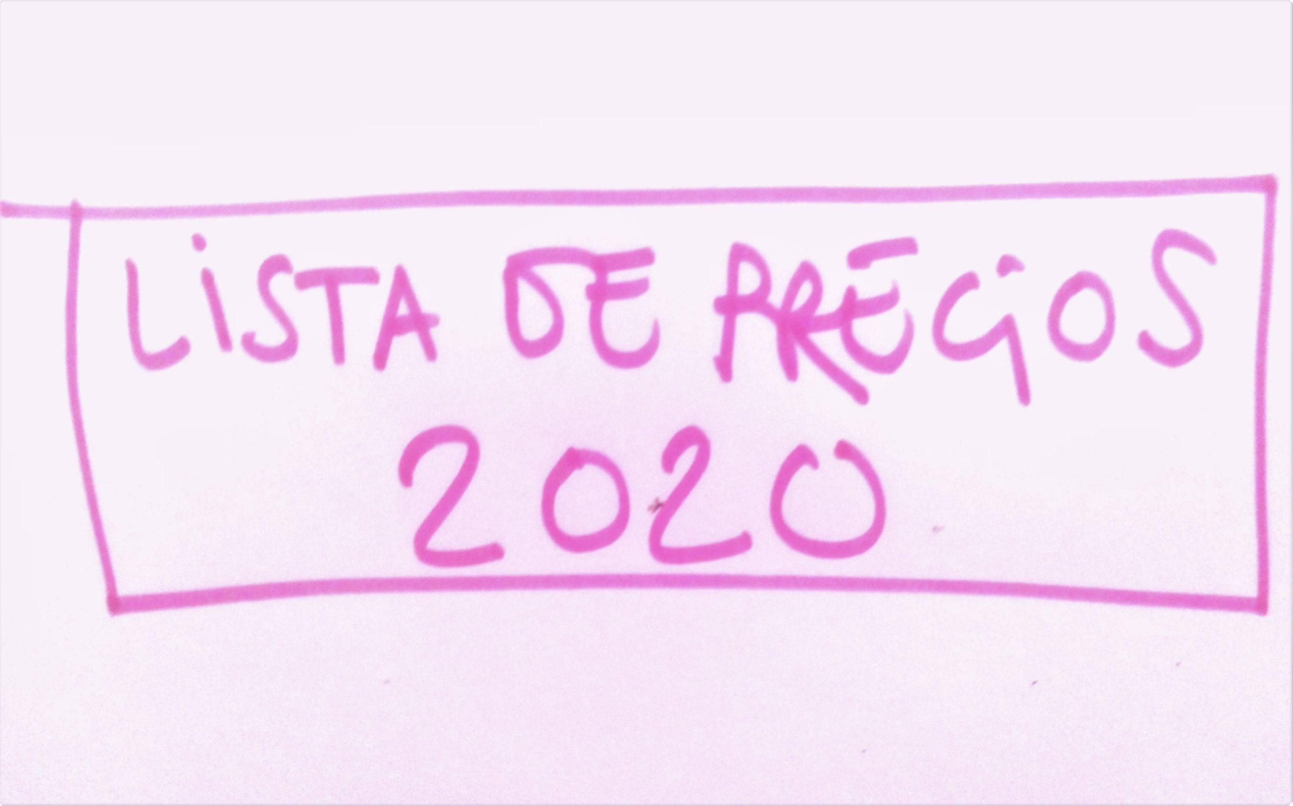LISTA DE PRECIOS 2020.
