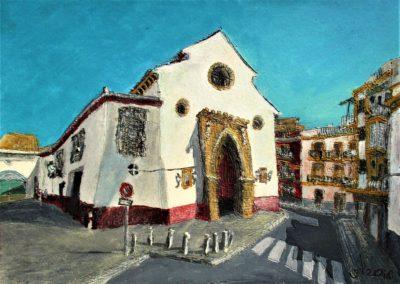 Sevilla. Iglesia de San Julián. Tinta, acuarela y acrílico sobre papel, 21 x 30 cm. 2018.