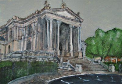 Londres, Tate Britain. Tinta, acuarela y acrílico sobre papel, 21 x 30 cm. 2017.
