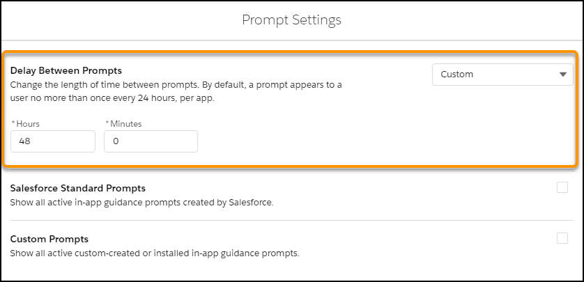 Customize When Prompts Appear to Users - 1
