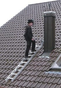 Dachdecker-Leiter