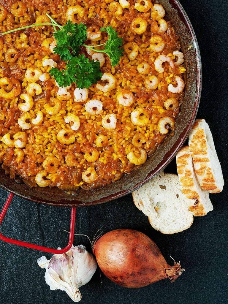 Easy Prawn Paella Recipe