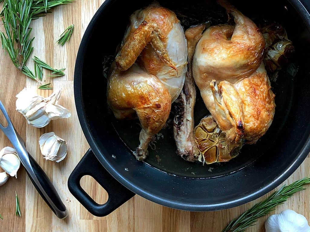 Roasted Garlic and Rosemary Chicken in a remoska