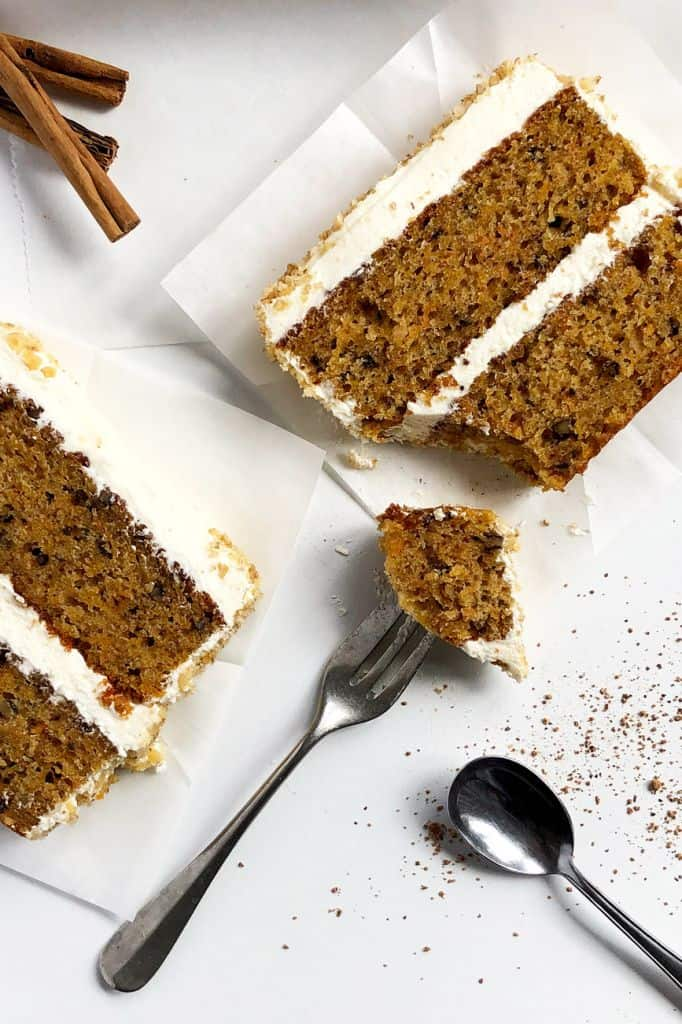 Butternut Squash Cake with Cinnamon and Walnuts