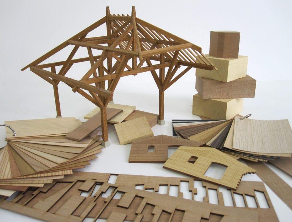 exemple d'utilisation de bois dans les maquettes