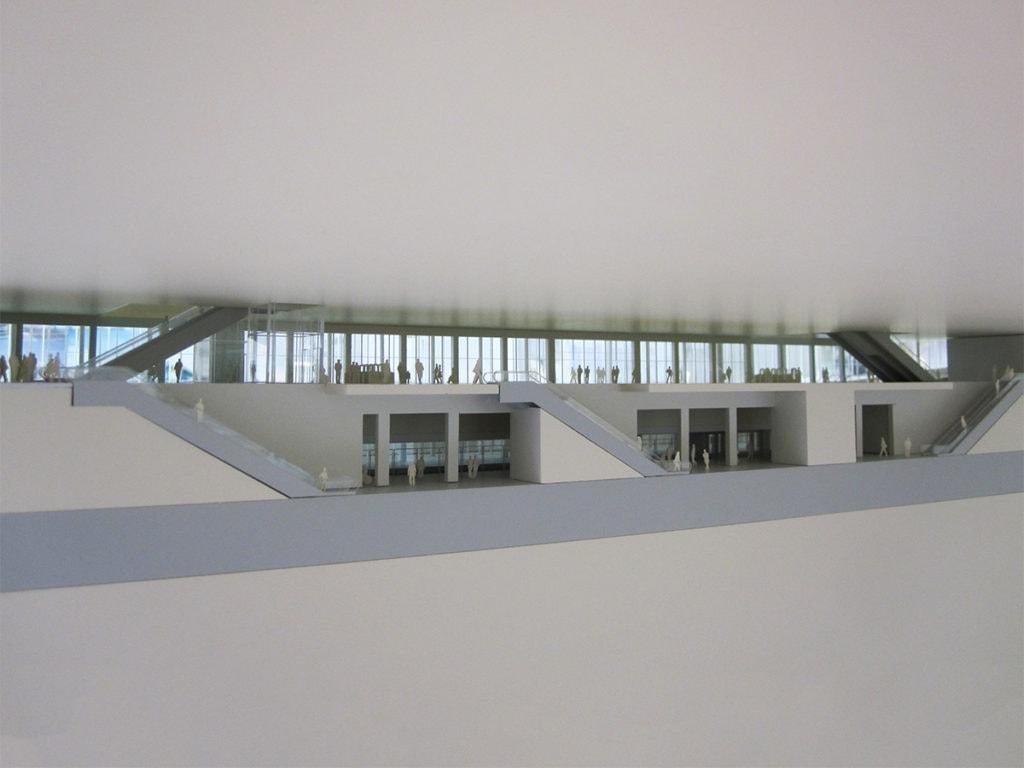 Maquette de la gare du Triangle de gonesse par novembre architecture pour le Grand Paris