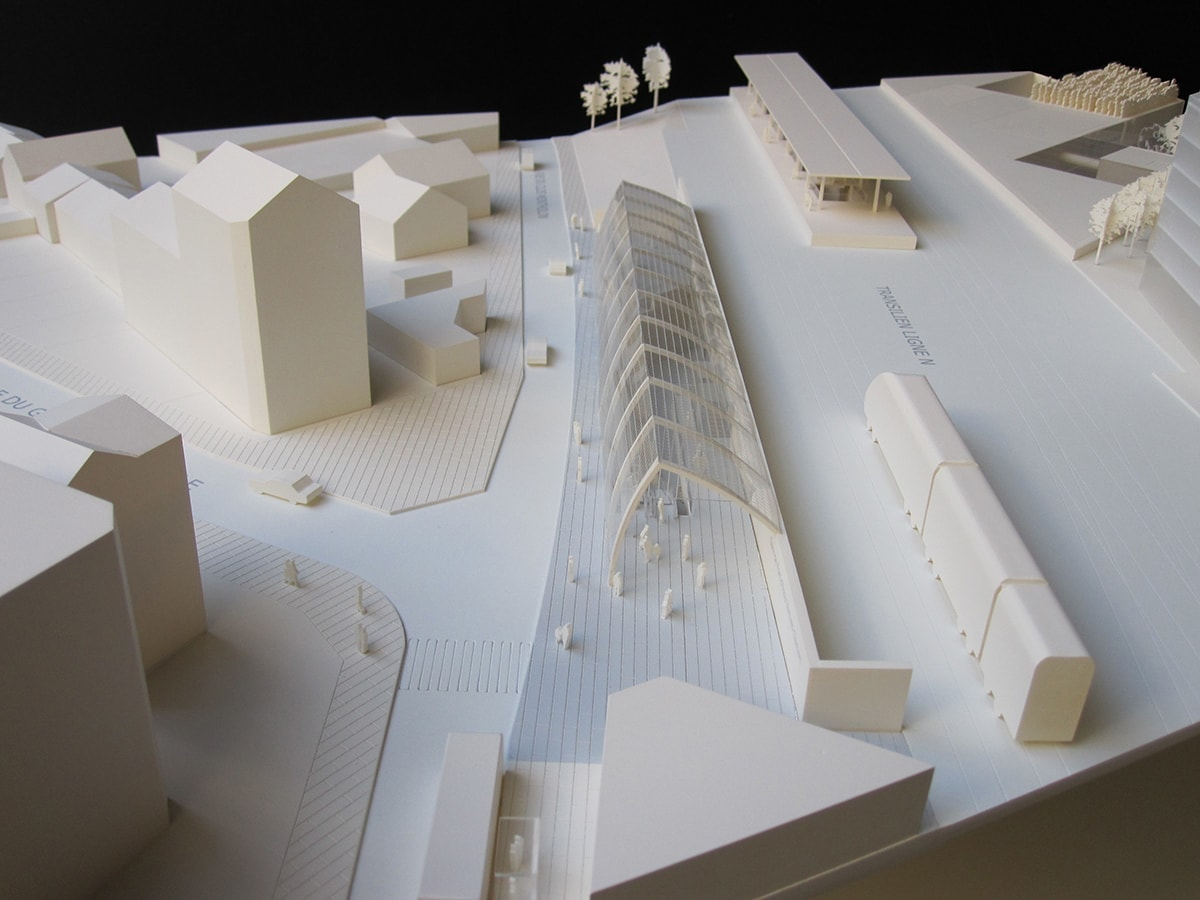 Maquette de la gare de Fort d'Issy-Vanves-Clamart, Philippe Gazeau, Grand Paris