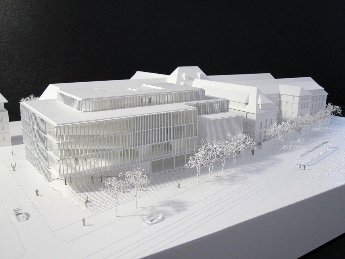 maquette de la bibliothèque de Besançon par Pascale Guédot architecte