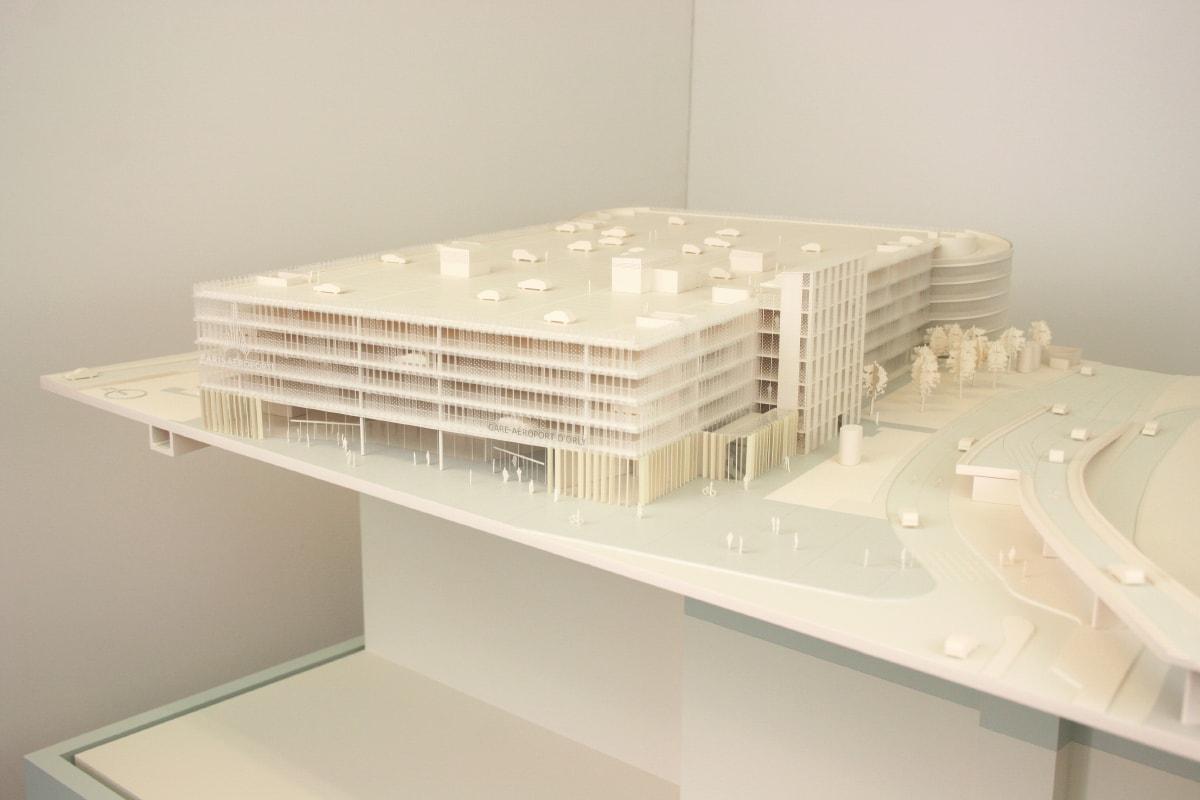 Maquette de la gare de l'aéroport d'Orly pour les métros du Grand Paris