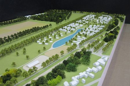 Maquette d'urbanisme du site de Pion à Versailles par l'agence Duthilleul