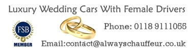 Luxury wedding cars with female drivers