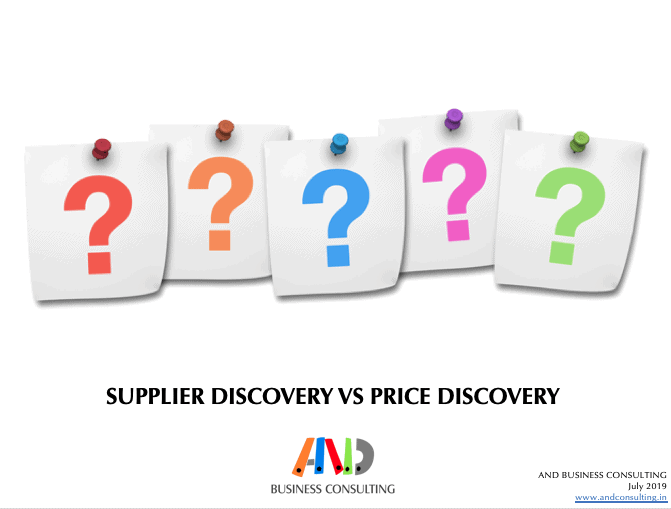 Supplier discovery vs. price discovery