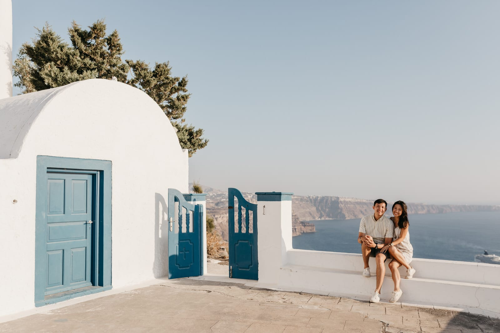 santorini wedding proposal