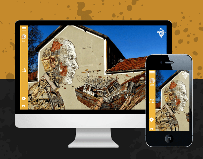 Wallspot is an online street art archive and script to simulate your urban art journey in Portugal before you leave home. You have all the information about the urban art world in one place