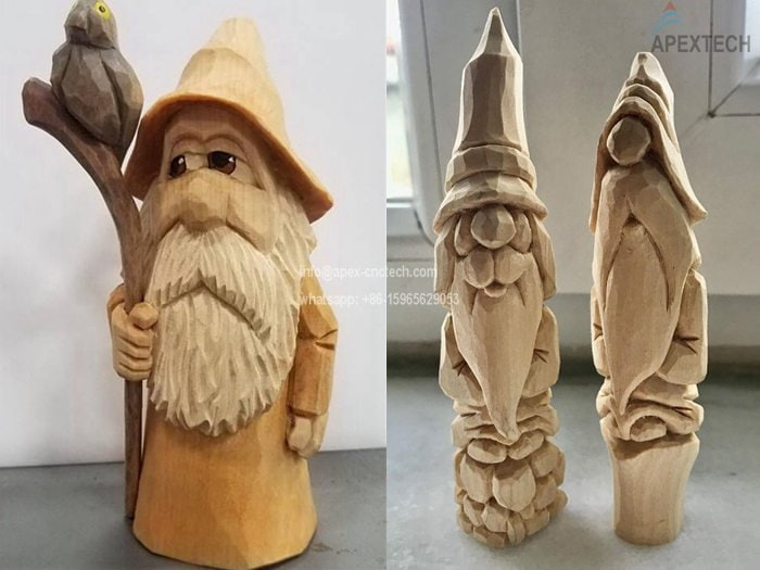 5 axis cnc milling machine for wooden statue and wooden arts
