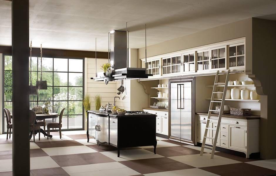 le cucine classiche sono disponibili in varie essenze e colori