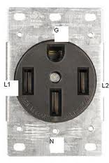 4 wire outlet for a outlet box