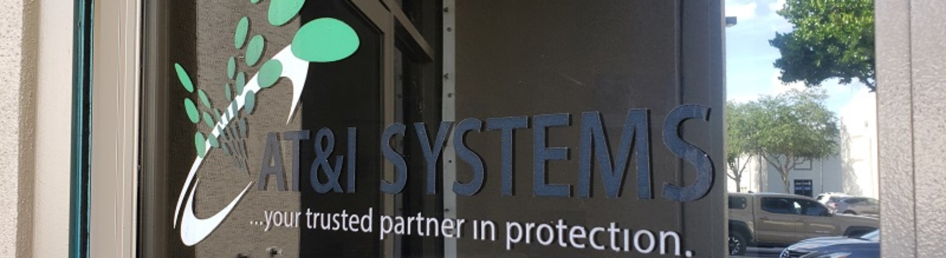 AT&I Systems office door, Your trusted partner in protection.