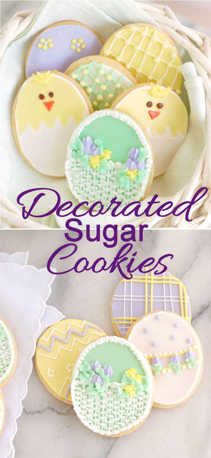 a decorated sugar cookie pin with text overlay