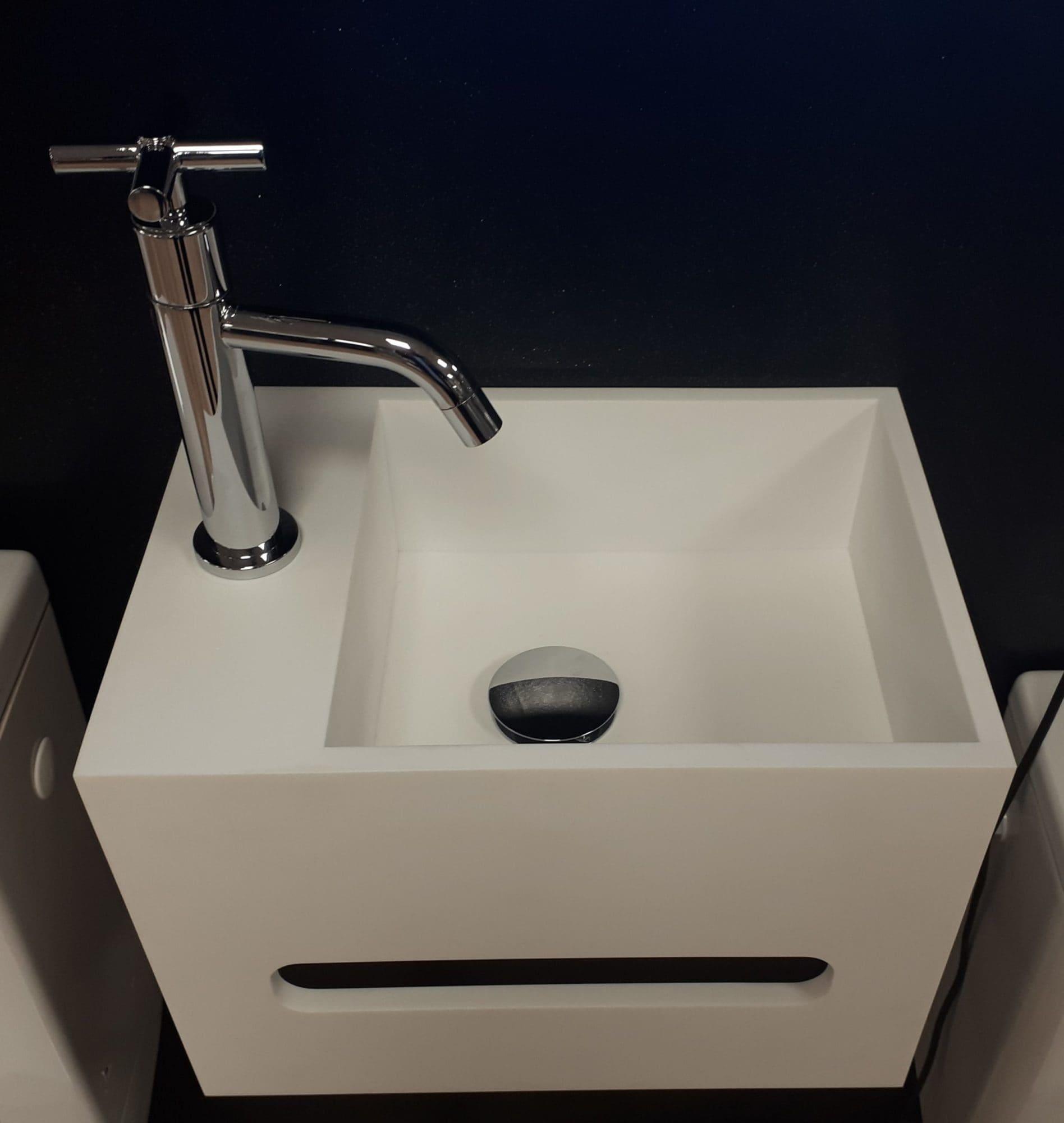 lave-mains – Paros – Corian Glacier White – BF PRO