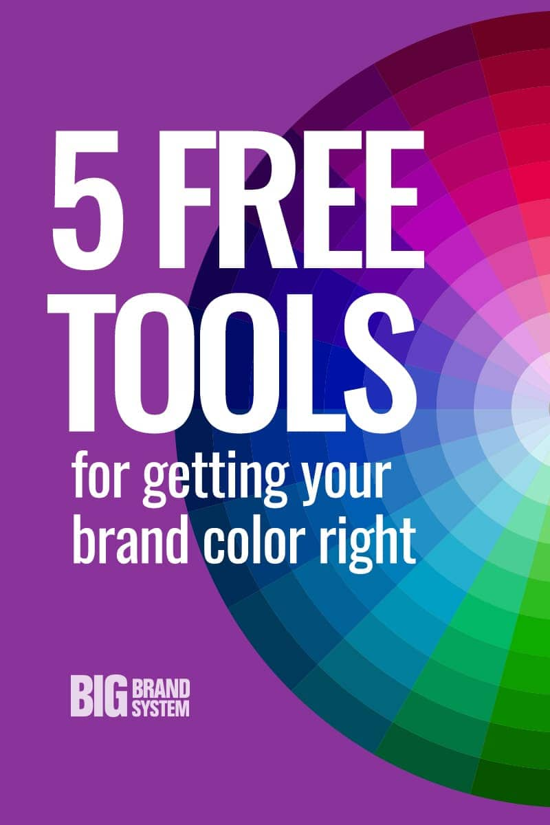 Looking for just the right color palette to express your brand? Click through for five designer-approved (free!) tools that will inspire you to choose the best brand colors for your business. #branding #personalbrand #colorpalette #visualmarketing