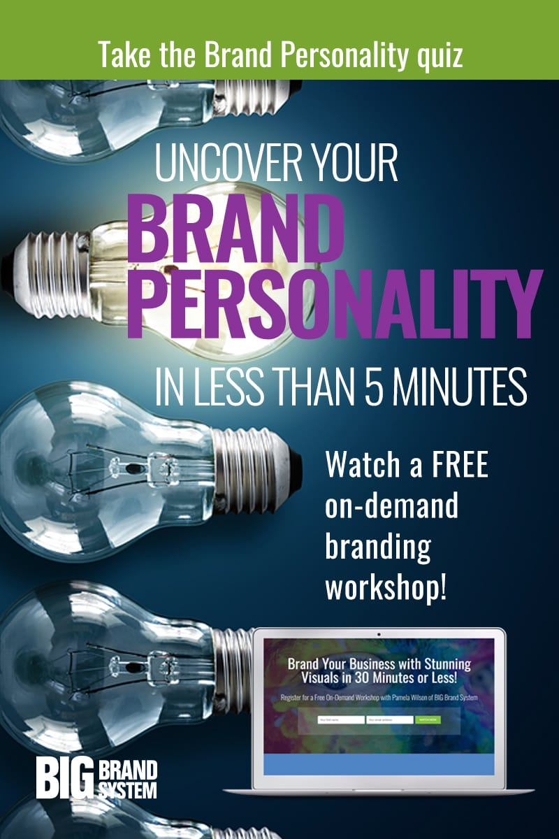 Take this quick Brand Personality Quiz to discover how your brand shows up in the world! Once you understand your brand personality your online marketing will be more effective. Discover how to communicate what your business really represents — get results right on the page! #onlinemarketing #onlinebranding #brandpersonality #branding