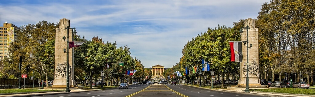 Pennsylvania tree road sky