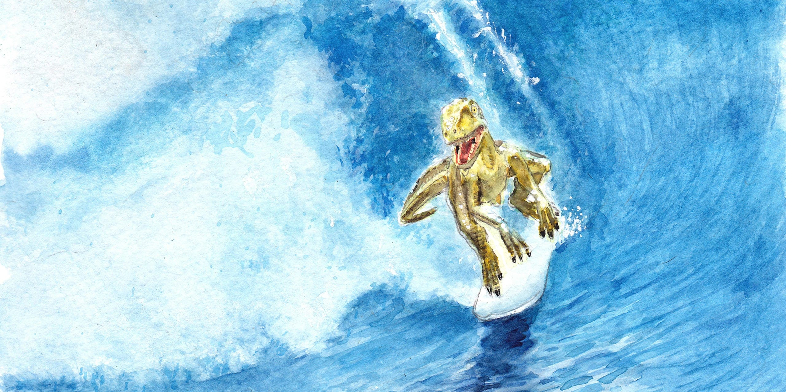 Small Surfing Raptor by Ray Young Chu