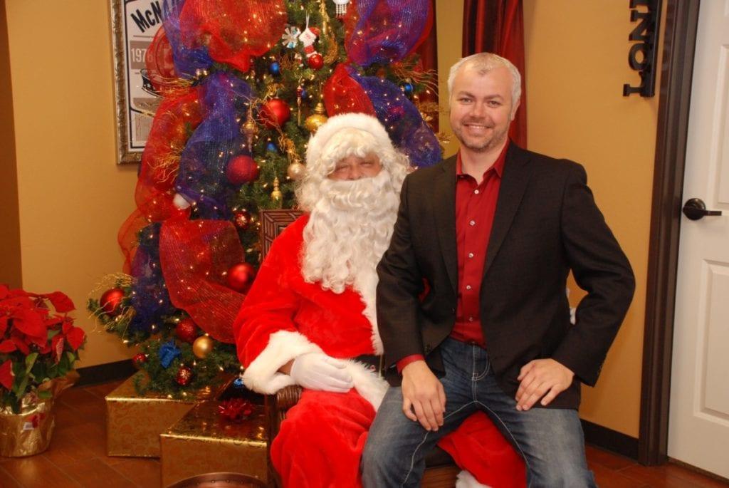 You're never too big for Santa!