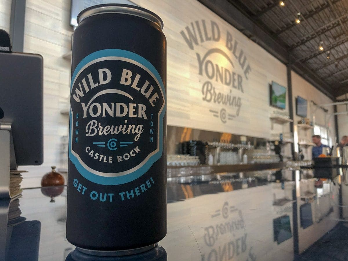 Crowlers are available to take some Wild Blue Yonder beer home with you. Wild Blue Yonder Brewing Co, Castle Rock CO