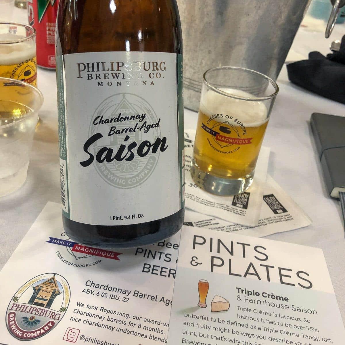 Chardonnay Barrel Aged Saison from Philipsburg Brewing Co in Philipsburg, MT