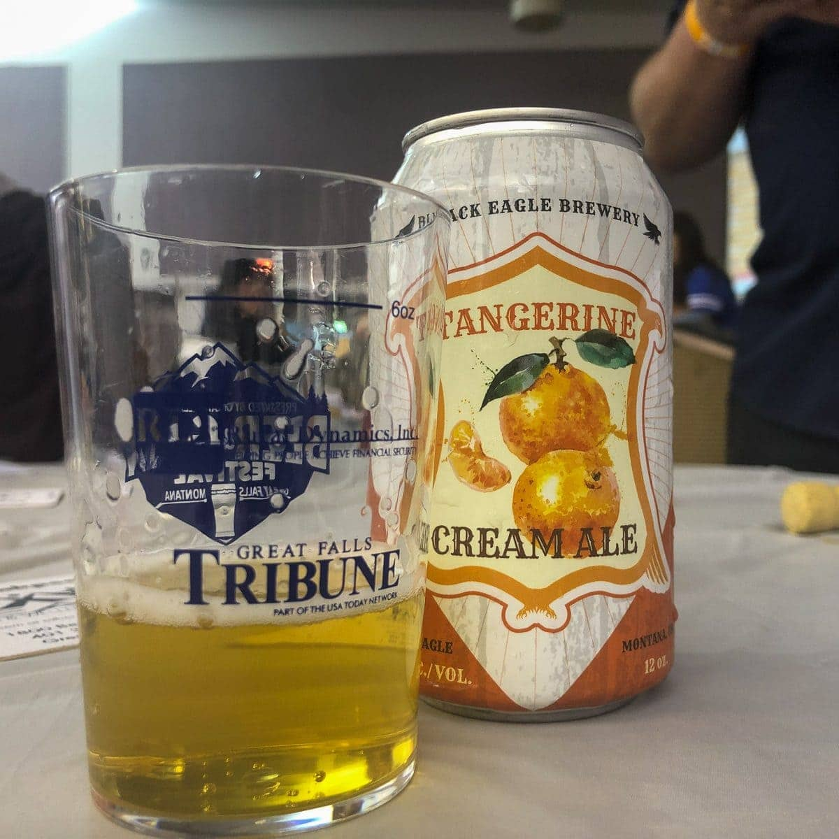 Tangerine Cream Ale from Black Eagle Brewery in Great Falls, MT