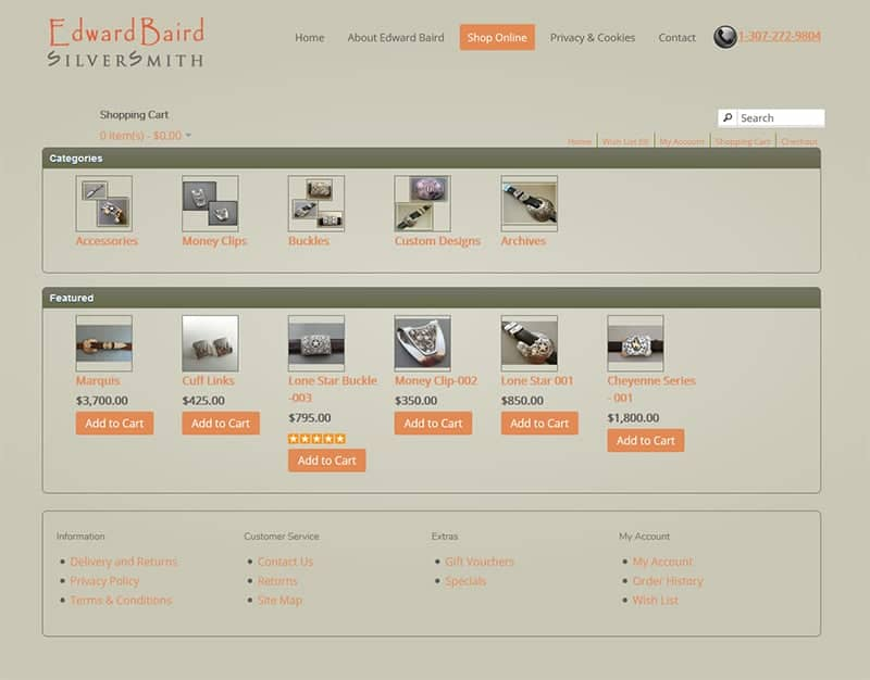 Edward Baird E-Commerce Store