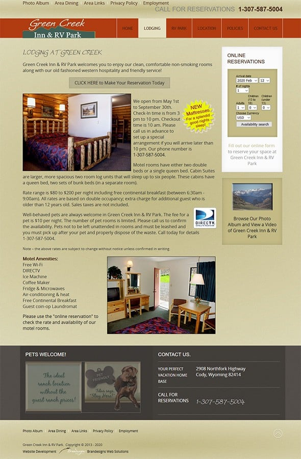 Green Creek Inn & RV Park Lodging & Reservations