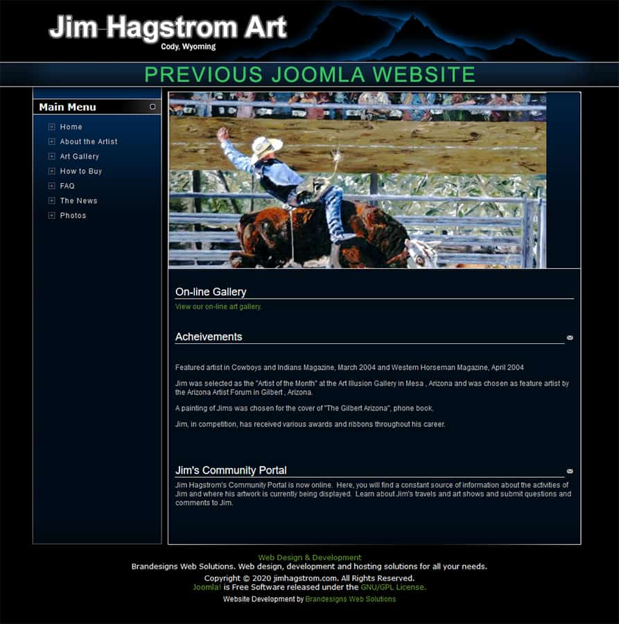 Jim Hagstrom Art - Joomla CMS 2010