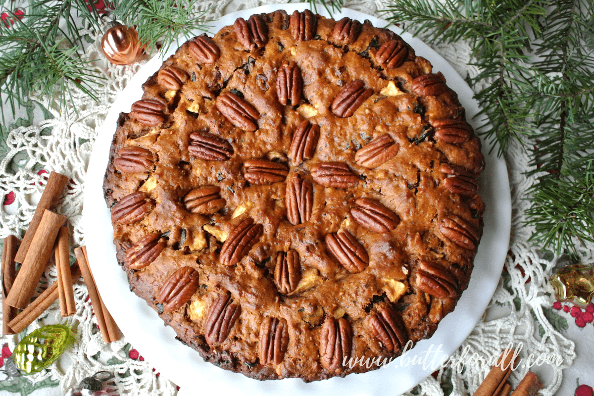 Spiced Fruit And Nut Cake -A Wholesome Honey Sweetened Winter Holiday Tradition