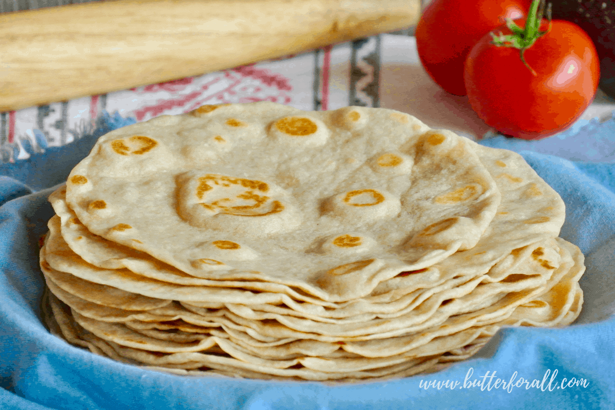 Soft and Chewy Sourdough Tortillas – Made with Real Lard