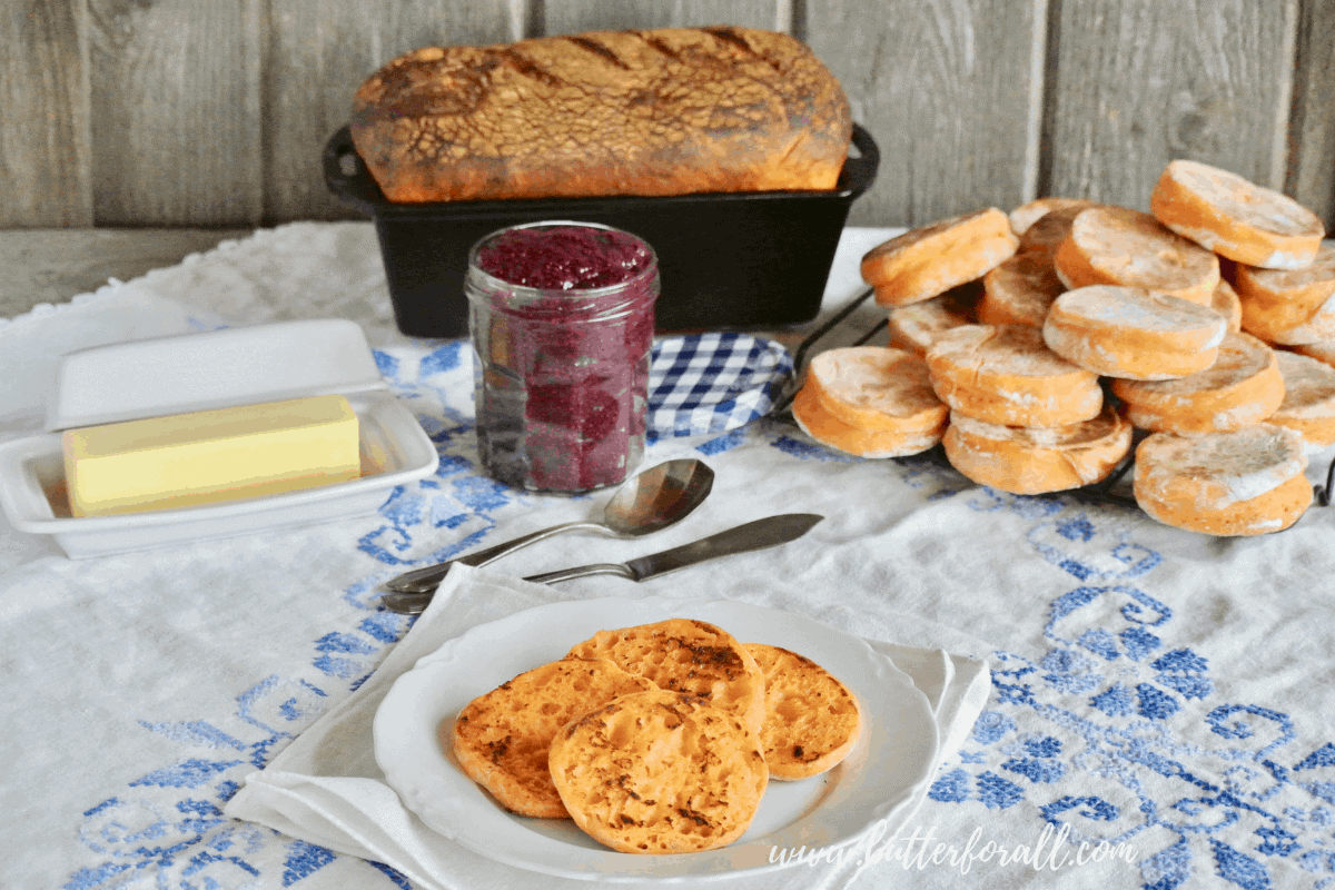 Sweet Potato Sourdough – Soft Sandwich Loaf or English Muffins