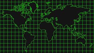 Hi Tech World Map Graphic Background