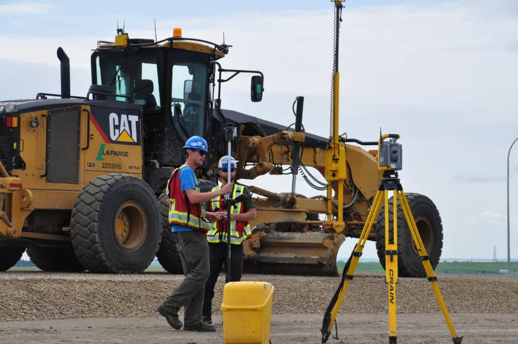 Machine Control survey for Stoney Trail