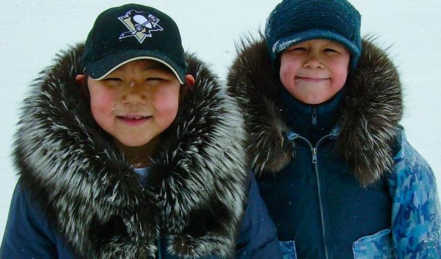 Two Boys Smiling in Quataq Nunavik