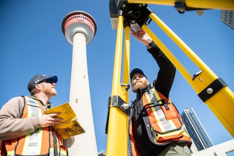 laser scanning near calgary tower