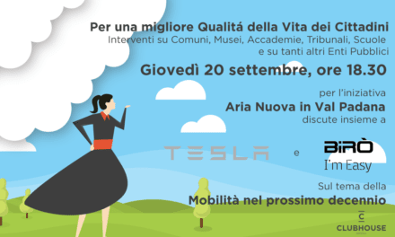 Giovedì 20 settembre – Civicum con Tesla e Birò – La mobilità sostenibile