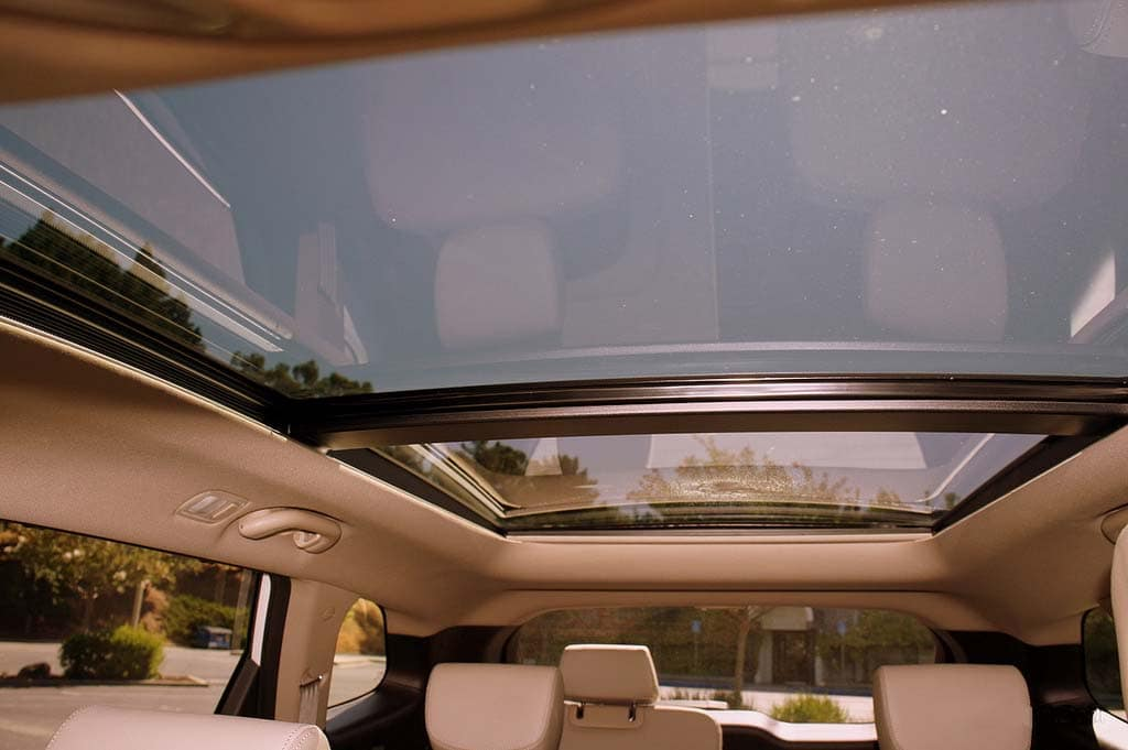 a Hyundai panoramic sunroof
