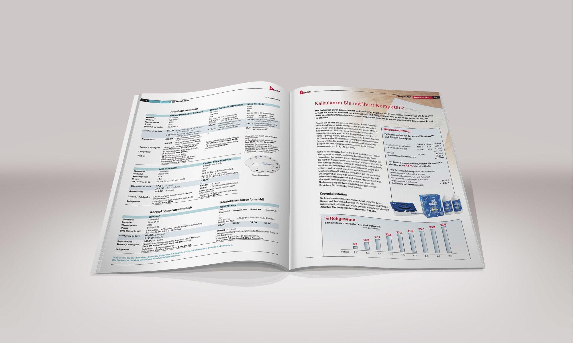 Bach Optik – Katalog und Preisliste
