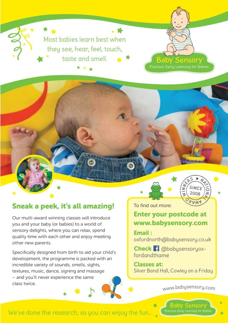 Baby Sensory Oxford Poster